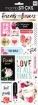 """Friends Are Like Flowers 12""""X5"""" - Specialty Stickers"""