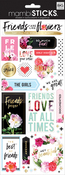 "Friends Are Like Flowers 12""X5"" - Specialty Stickers"