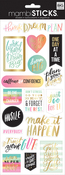 "Think Dream Plan 12""X5"" - Specialty Stickers"