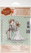 """Kiss The Bride - DreamerlandCrafts Cling Stamp 3""""X3"""""""