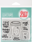 """Cool Beans - Avery Elle Clear Stamp Set 4""""X3"""""""