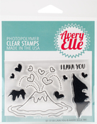 "Lava You - Avery Elle Clear Stamp Set 4""X3"""