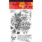 Burst Of Kindness Clear Stamps - Power Poppy