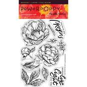 Peony Muse Clear Stamps - Power Poppy