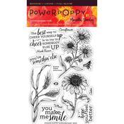Prairie Cheer Clear Stamps - Power Poppy
