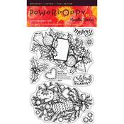 Bough Wow Wow Clear Stamps - Power Poppy