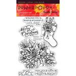 Poinsettia Clear Stamps - Power Poppy
