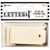 Ranger Letter It Tag Assortment 18/Pkg - PRE ORDER