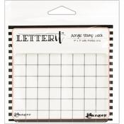 """Ranger Letter It Acrylic Stamping Block 4""""X3"""" - PRE ORDER"""