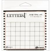 "Ranger Letter It Acrylic Stamping Block 4""X3"""