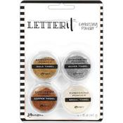Tinsels Ranger Letter It Embossing Powder Set