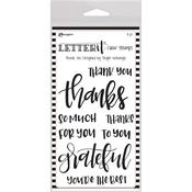 "Thank You Ranger Letter It Clear Stamp Set 4""X6"""
