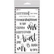 "Wedding Ranger Letter It Clear Stamp Set 4""X6"""