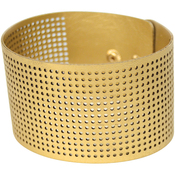 "8""X1.5"" Gold - Faux Leather Bracelet Punched For Cross Stitch"
