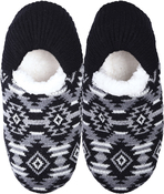 Aztec Black - Small/Medium - K Bell Slippers