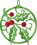 "Holly & Berry Ornament 2.5""X3"" - CottageCutz Dies"