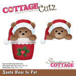 """Santa Bear In Pot 1.9"""" To 3"""" - CottageCutz Dies"""