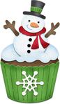 """Snowman Cupcake 1.5""""X2.5"""" - CottageCutz Dies"""