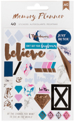 Marble Crush - Words & Icons - American Crafts Memory Planner Stickers