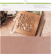 "Rose Gold - Cricut Maker Soft Metallic Leather 12""X12"""