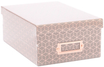 "Gray Geo W/Rose Gold Foil - DCWV Photo Box W/Bookplate 11""X7.375""X4.375"""