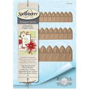 Lilly Pearl Fold Flower/Border - Spellbinders Chantilly Paper Lace By Becca Feeken