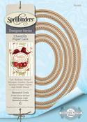 "Hemstitch Ovals 1.75"" to 5.5"" - Spellbinders Chantilly Paper Lace By Becca Feeken"