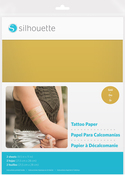 "Gold - Silhouette 8.5""X11"" Temporary Tattoo Paper 2/Pkg"