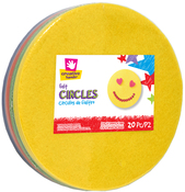 "Assorted - 6.5"" Felt Circles 20/Pkg"