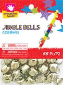 Silver - Value Pack Jingle Bells 13mm 55/Pkg
