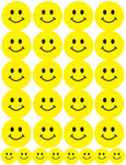 Smiley Faces - Sticker Forms 3 Sheets/Pkg