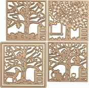 Four Seasons-Silhouettes - Spellbinders Shapeabilities Dies By Lene Lok