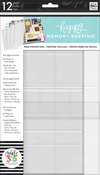 12 Pre-Punched Sheets, 4 Designs/3 Each - Create 365 Happy Memory Keeping Big Page Protectors