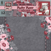 "Ruby Rose - Hot Off The Press Double-Sided Paper Pack 12""X12"" 12/Pkg"