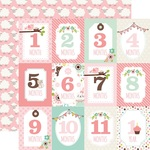 Month Cards Paper - Sweet Baby Girl - Echo Park