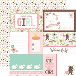 Jouraling Card Paper - Sweet Baby Girl - Echo Park