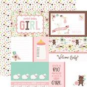 Jouraling Card Paper - Sweet Baby Girl - Echo Park