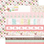 Border Strips Paper - Sweet Baby Girl - Echo Park