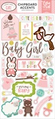 Sweet Baby Girl Chipboard Accents - Echo Park - PRE ORDER