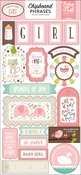Sweet Baby Girl Chipboard Phrases - Echo Park - PRE ORDER