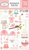 Sweet Baby Girl Rub Ons - Echo Park - PRE ORDER