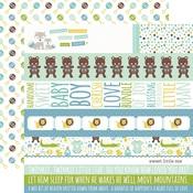 Border Strips Paper - Sweet Baby Boy - Echo Park