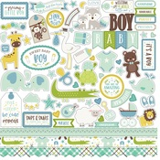 Sweet Baby Boy Element Stickers - Echo Park