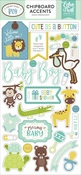 Sweet Baby Boy Chipboard Accents - Echo Park - PRE ORDER