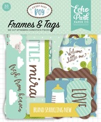 Sweet Baby Boy Tags & Frames - Echo Park