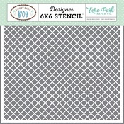 Simple Plaid Stencil - Echo Park
