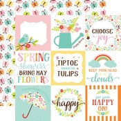 Journaling 4 x 6 Paper - Hello Spring - Echo Park