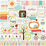 Hello Spring Element Stickers - Echo Park