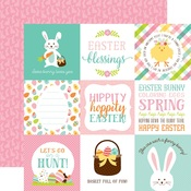 Journaling Cards 4 x 4 Paper - Hello Easter - Echo Park