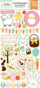 Hello Easter Chipboard Accents - Echo Park